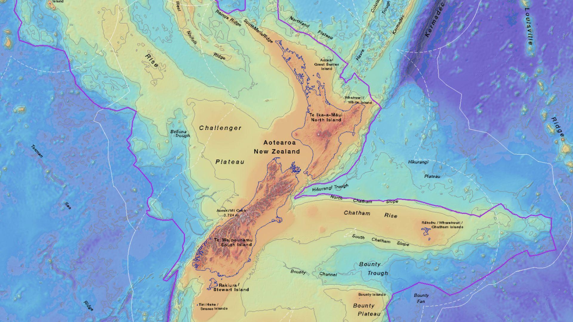 Очертават границите на потъналия континент Зеландия