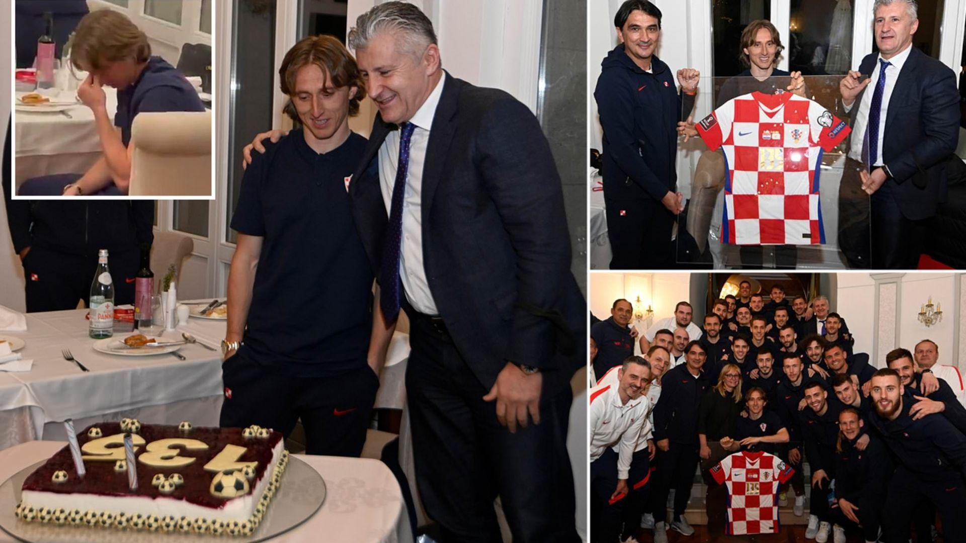 Лука Модрич се разплака след мил жест на своите съотборници