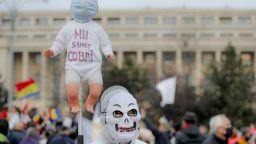 12 ранени и 188 арестувани на протест срещу локдауна в Букурещ (снимки и видео)