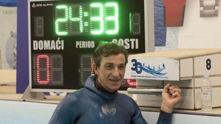 Хърватски гмуркач постави нов Гинес рекорд, след като задържа дъха