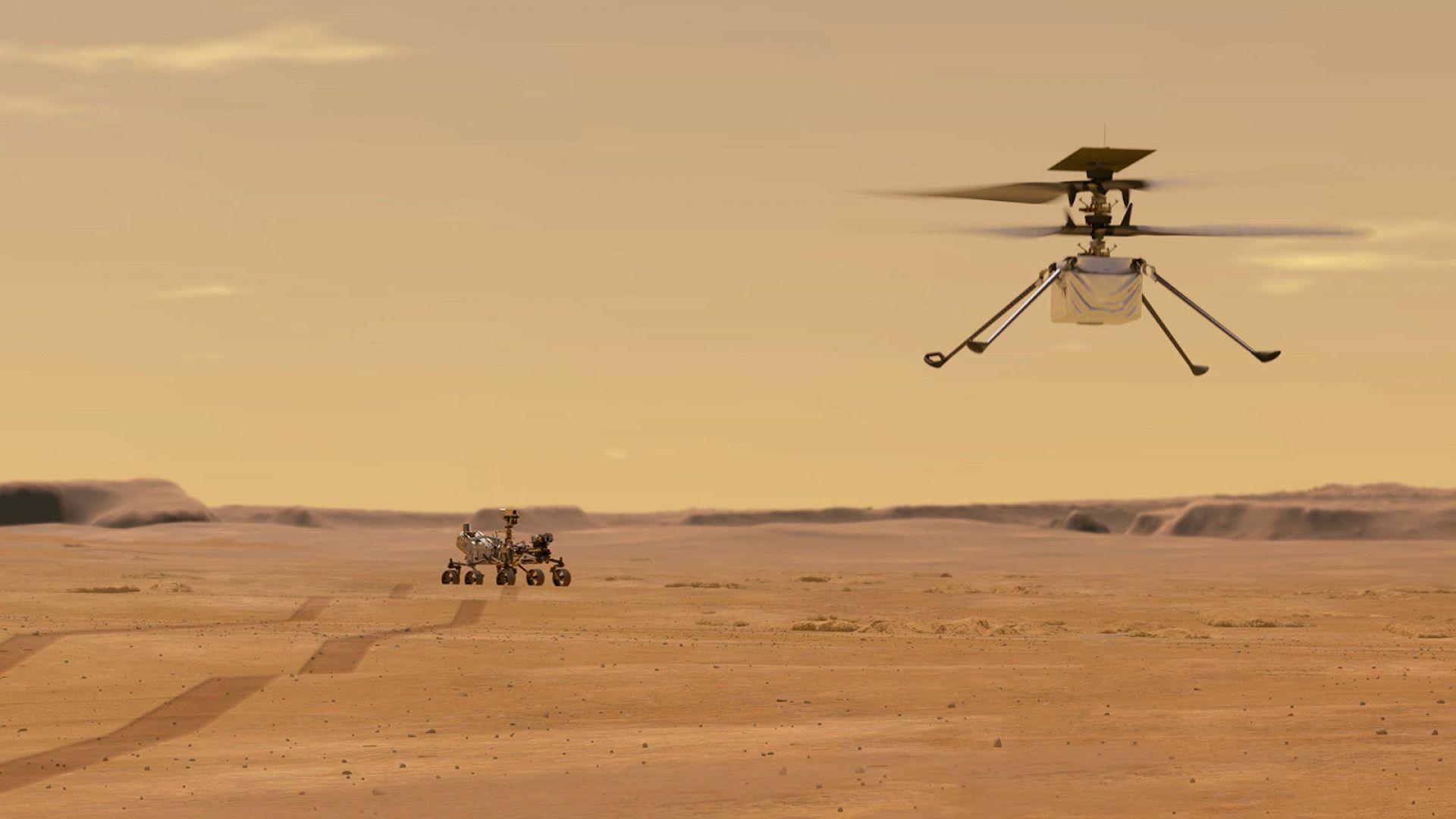 Кога ще полети първият хеликоптер на Марс