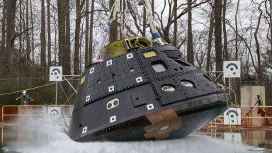 НАСА извърши водни изпитания на капсулата от кораба за полет до Луната