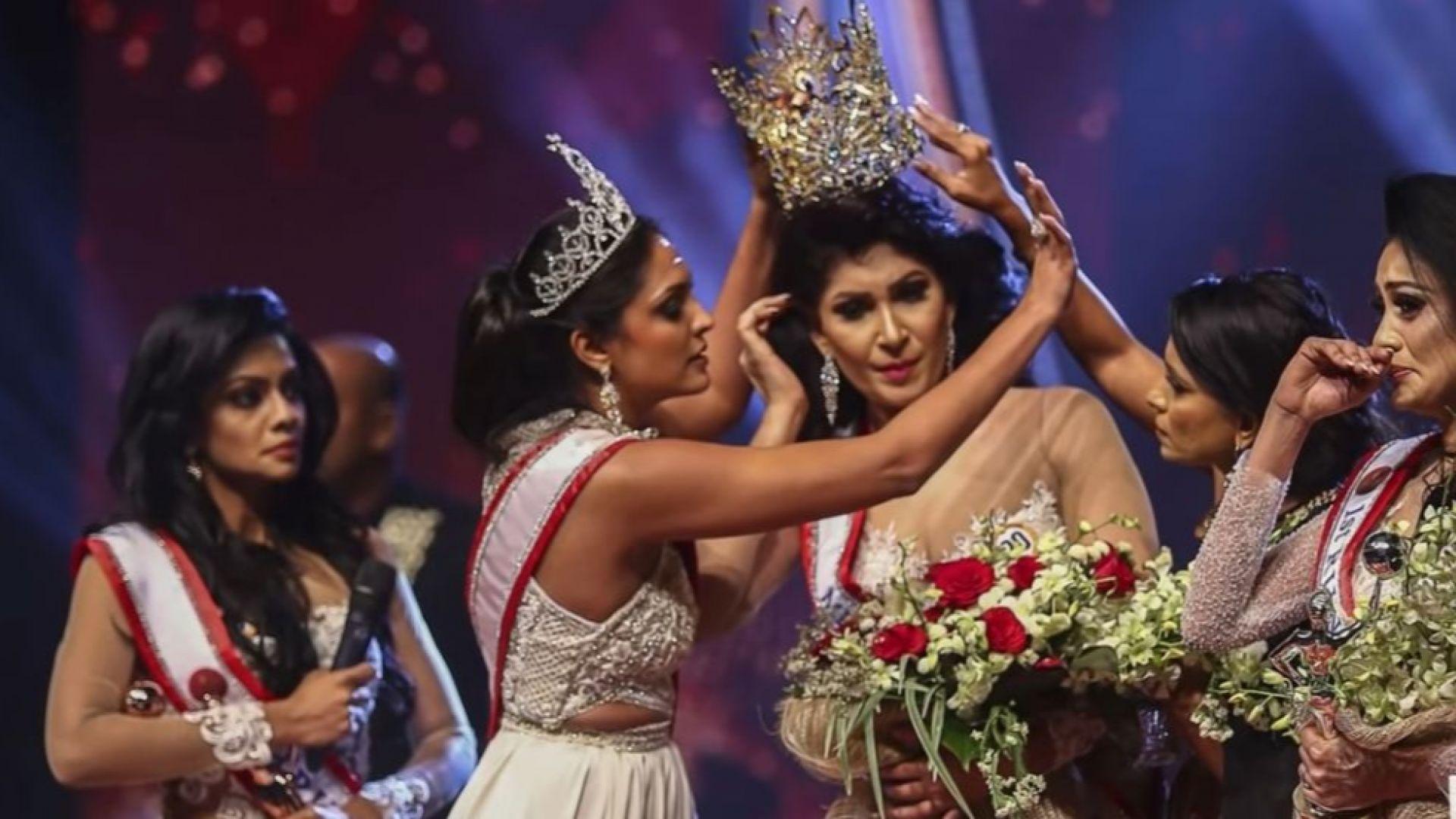 Хаос и драма на конкурс за красота в Шри Ланка