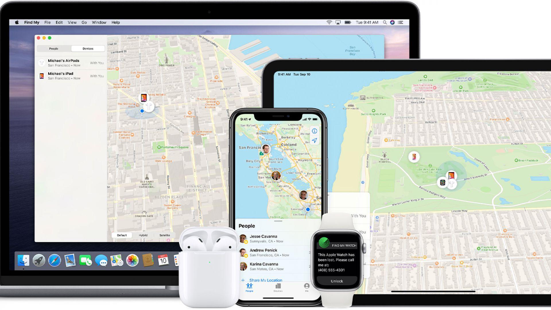 Apple отвори мрежата Find My и за проследяване на външни устройства