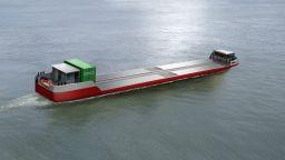 Пускат в продажба първия задвижван с водород товарен кораб