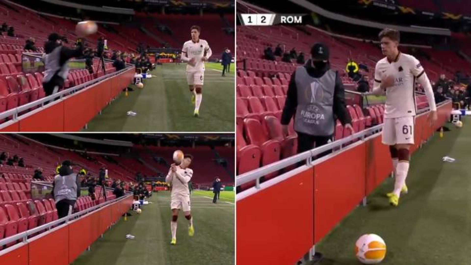 Куриозен момент в Амстердам показа колко са свикнали футболистите да симулират
