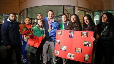 Посрещнаха част от медалистите ни в щангите