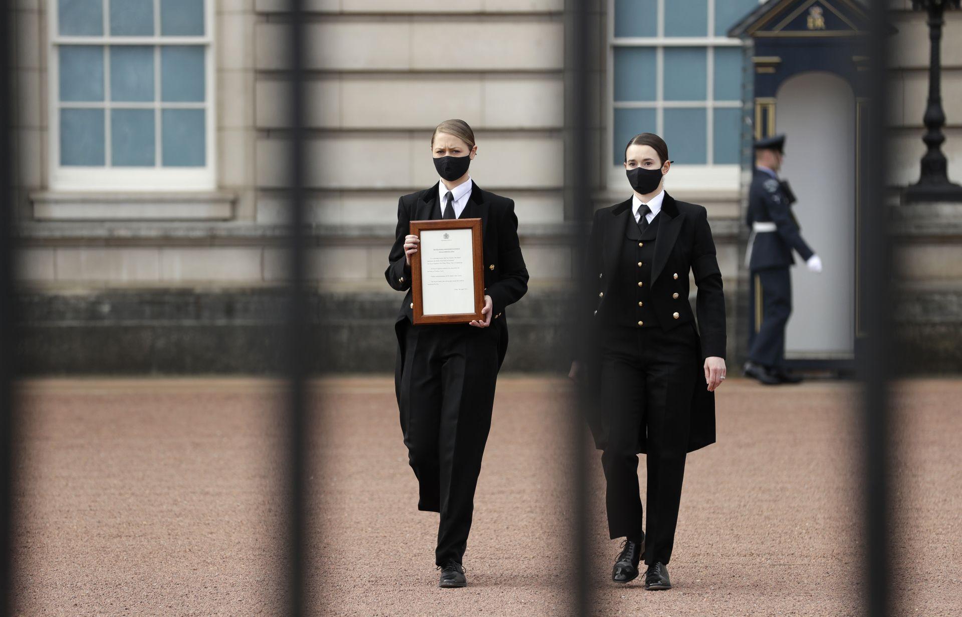 Бъкингамският дворец обявява смъртта на принц Филип