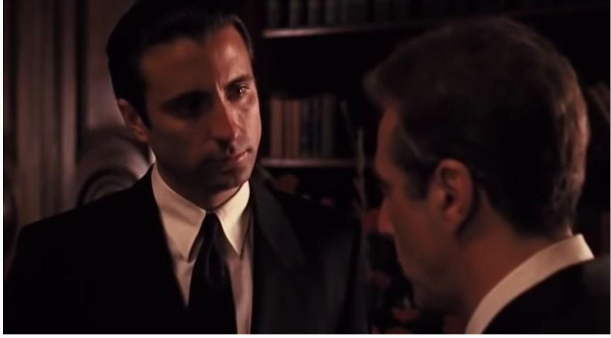 """Анди Гарсия и Ал Пачино в """"Кръстникът 3"""""""