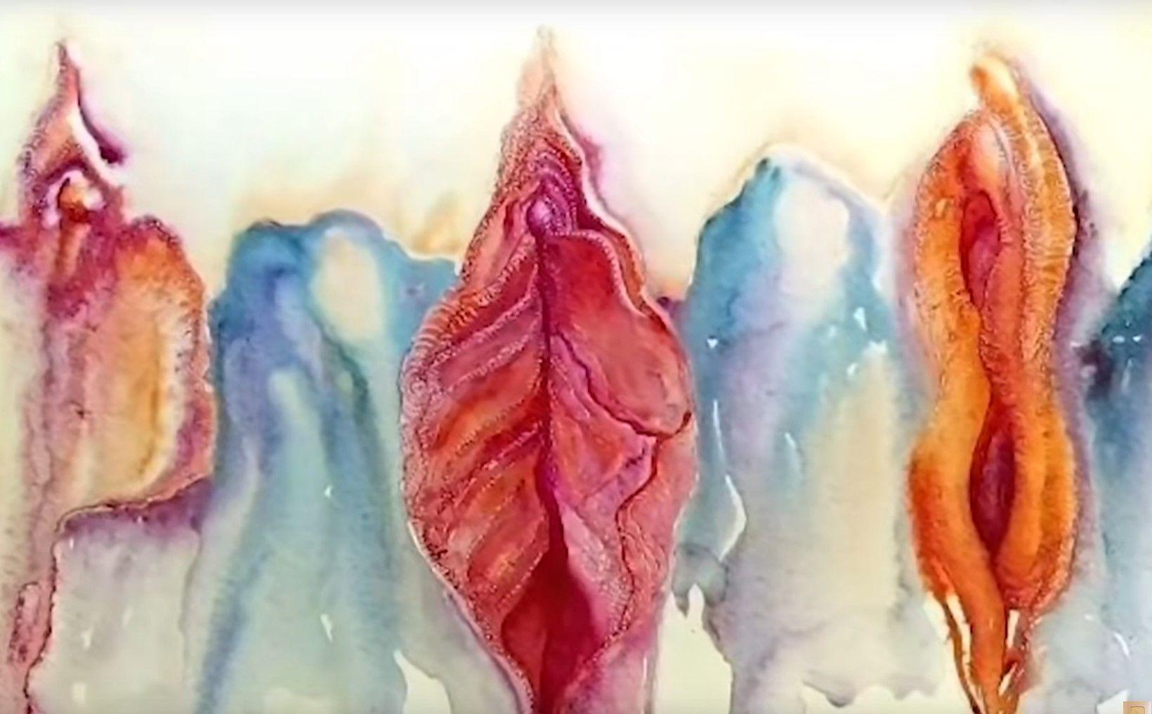 Картина на Юлия Цветкова изобразяваща вагина
