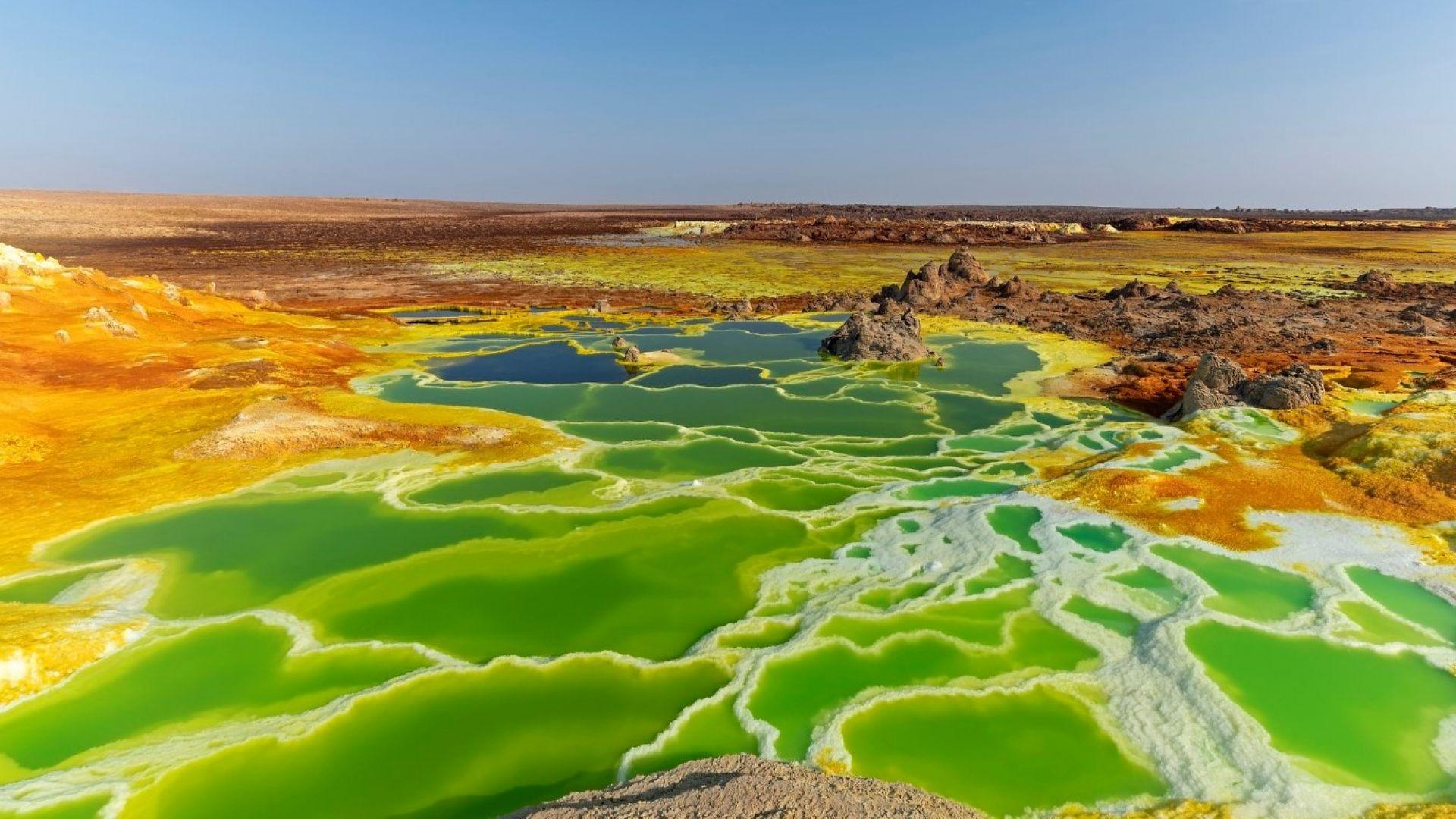 Тази цветна пустиня в Етиопия е като от друга планета (снимки)