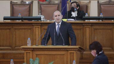 Президентът към новите депутати: Безпринципна коалиция може да задълбочи кризата