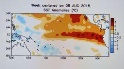 Ел Ниньо засилва аномалиите с напредването на глобалното затопляне