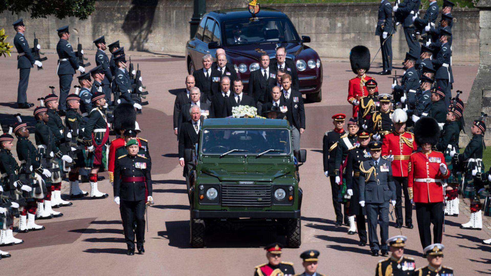 Два пъти по-малко тв зрители на погребението на принц Филип, отколкото на това на принцеса Даяна