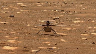 """НАСА показа потоците марсиански прах по време на полета на """"Инджинюити"""""""
