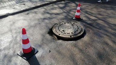 Отново кола пропадна в шахта в Пловдив