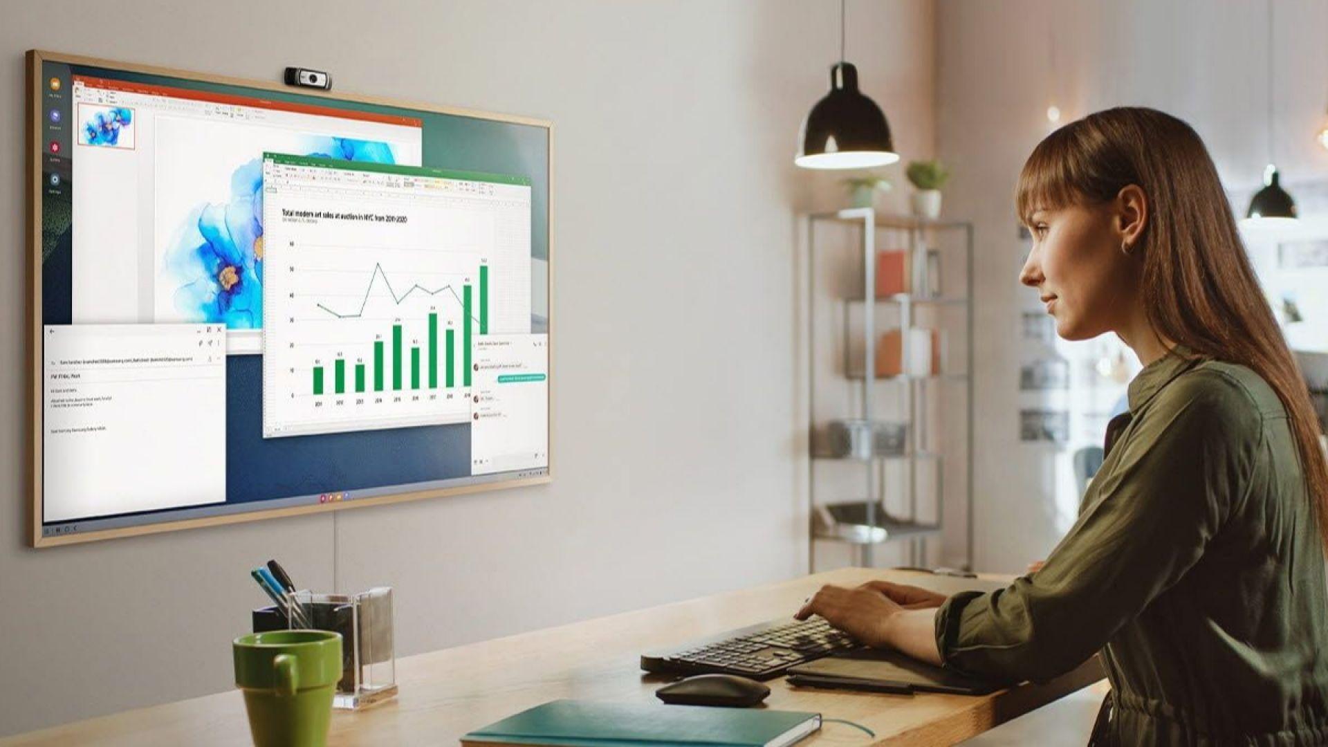The Frame 2021 на Samsung може да е част от домашната ви работна станция