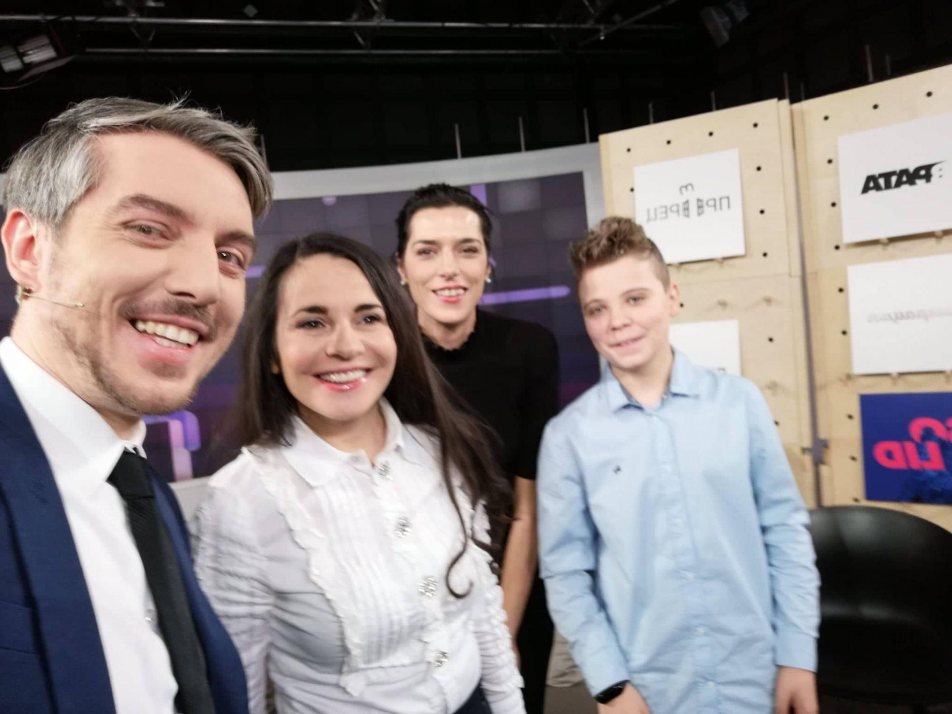 С колегата Даниел Ненчев след участие в негово ТВ предаване