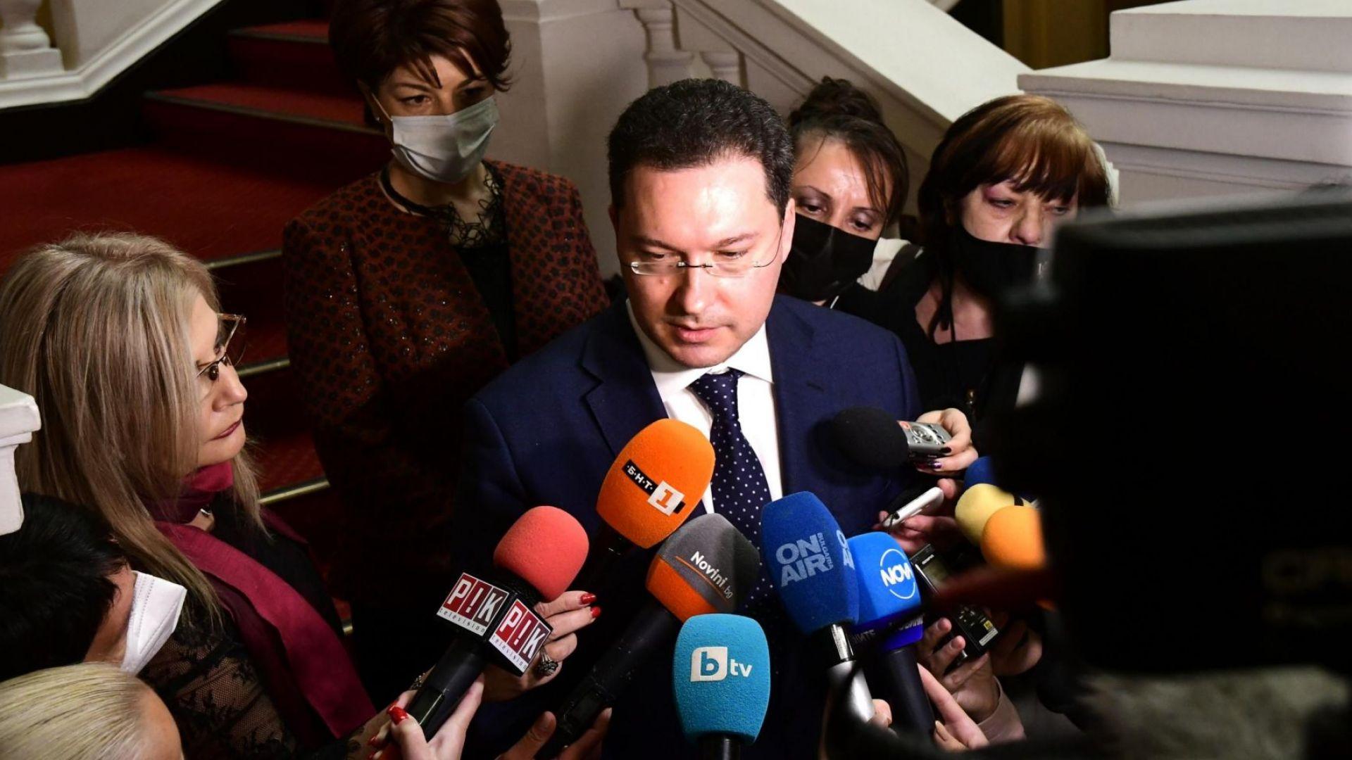 Даниел Митов: Днес няма да върнем мандата