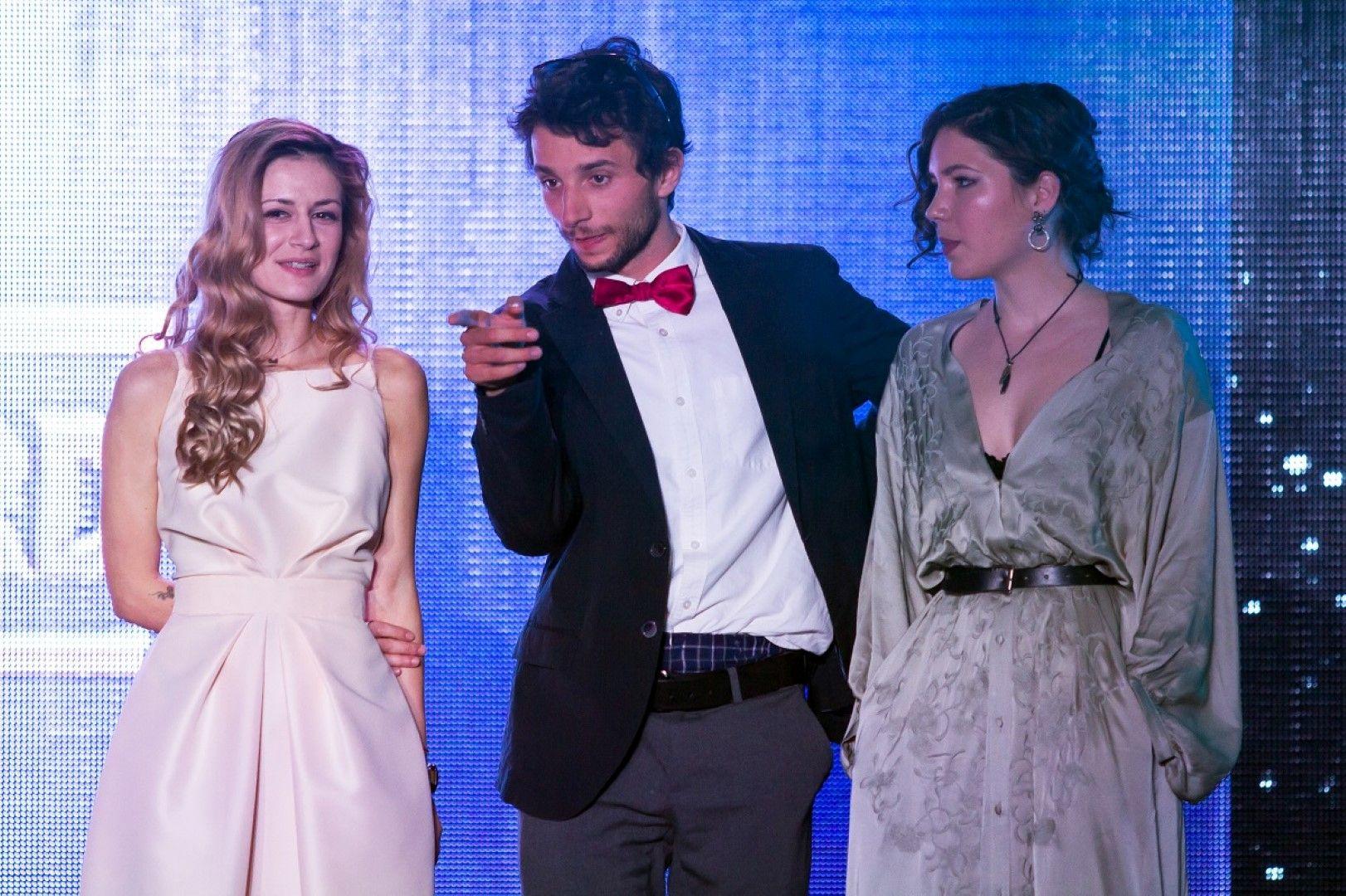 Тримата финалисти за Наградата за Кино 355 - Росица Траянова, Виктор Иванов и Елена Чергиланова