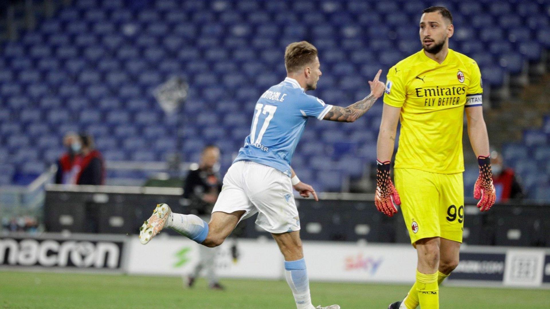 Лацио разгроми Милан и прати титлата при градския му съперник