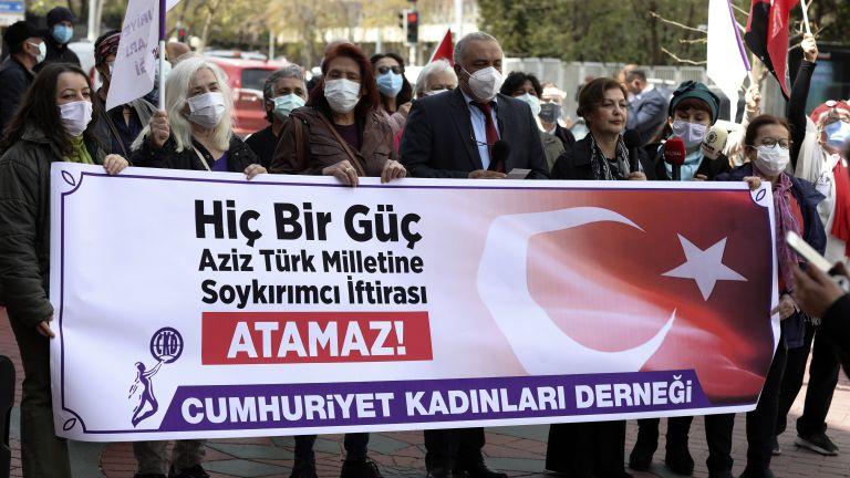 Турският парламент прие днес декларация, осъждаща изявлението на американския президент