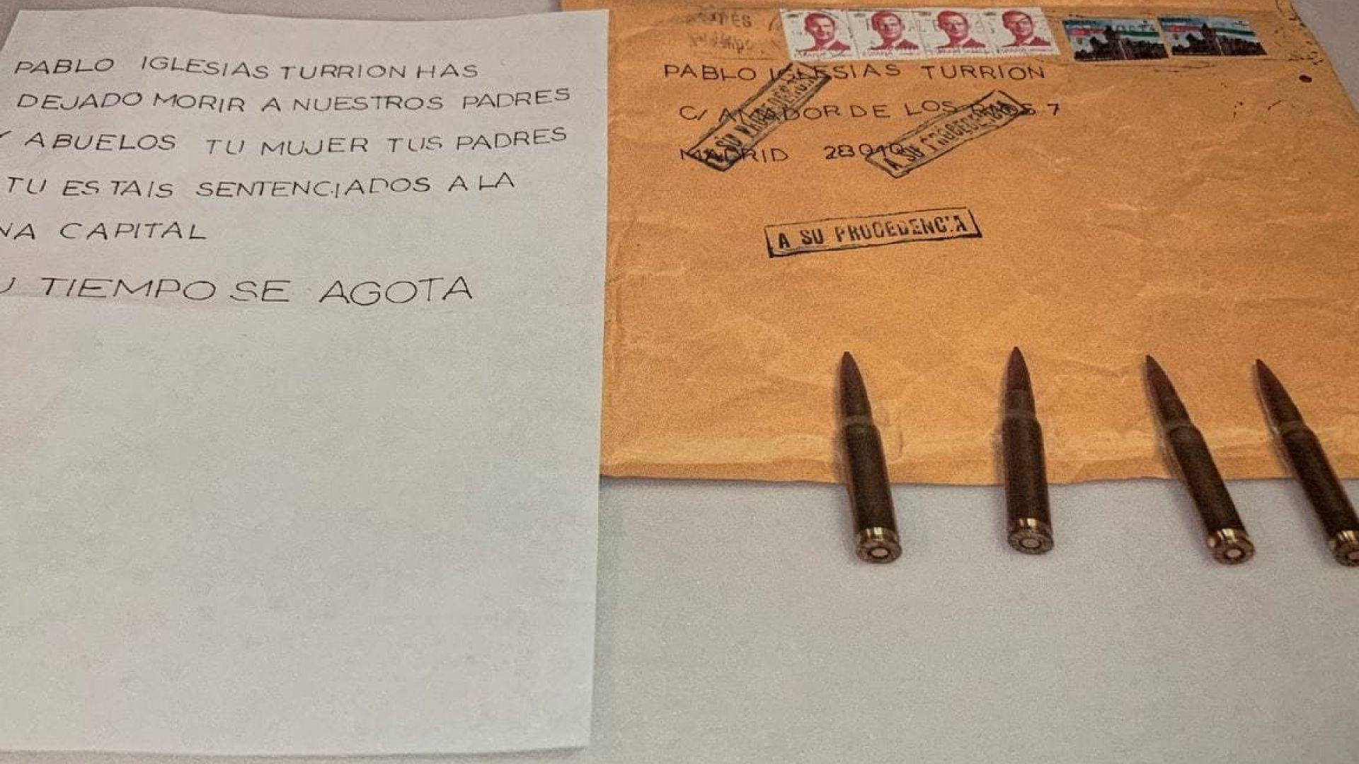Писмо с куршуми и за областната управителка на Мадрид