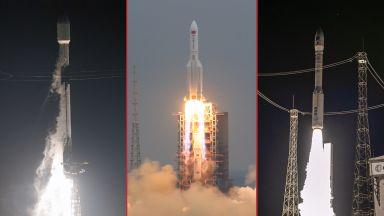 3 ракетни старта за един ден (видео и снимки)