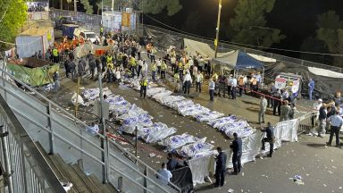 Десетки загинали при срутването на трибуна на религиозен празник в Израел