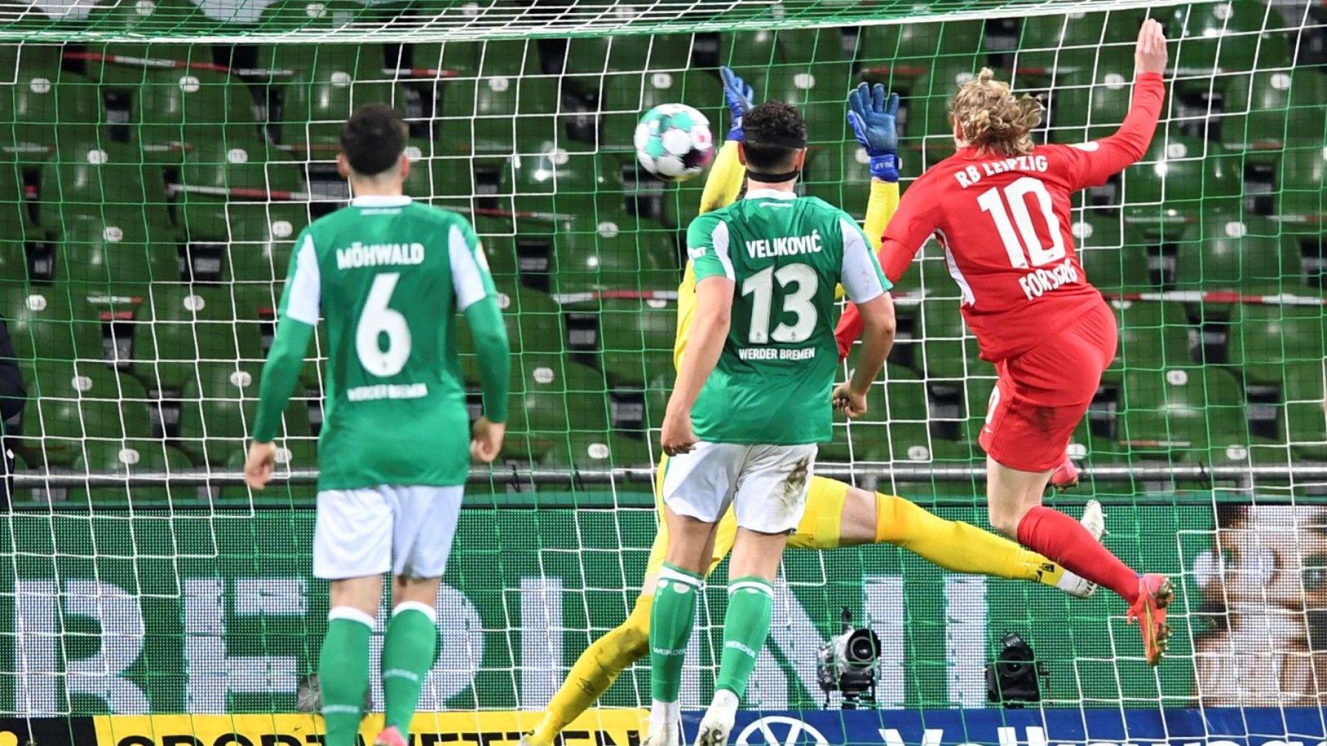 Гол в последната секунда постла пътя за първи трофей пред 11-годишния клуб от Лайпциг