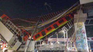 Десетки жертви и ранени при рухване на надлез на метрото в Мексико Сити (снимки)