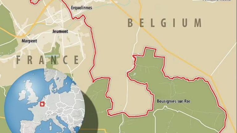 Собственик на нива в Белгия премести един от камъните, демаркиращи