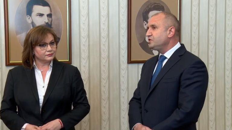 Президентът Румен Радев връчи третия мандат за съставяне на правителство