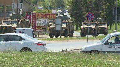 Част от военния конвой на НАТО обърка пътя, докато преминаваше през България