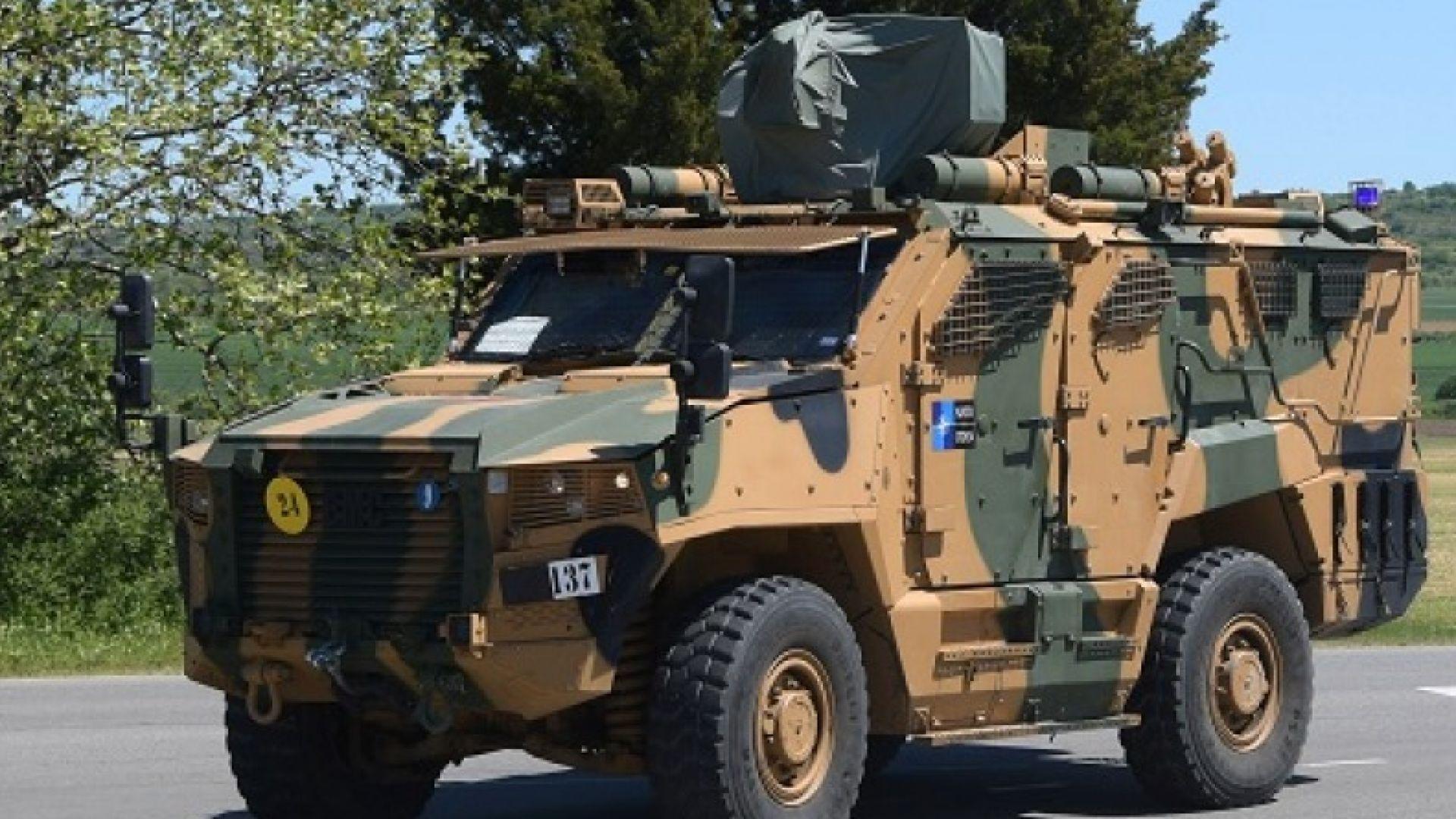 Войски на НАТО преминават през страната за учението в Румъния