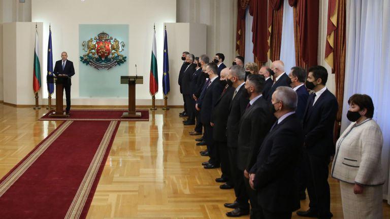 Президентът Румен Радев представи структурата, състава и приоритетите на служебното