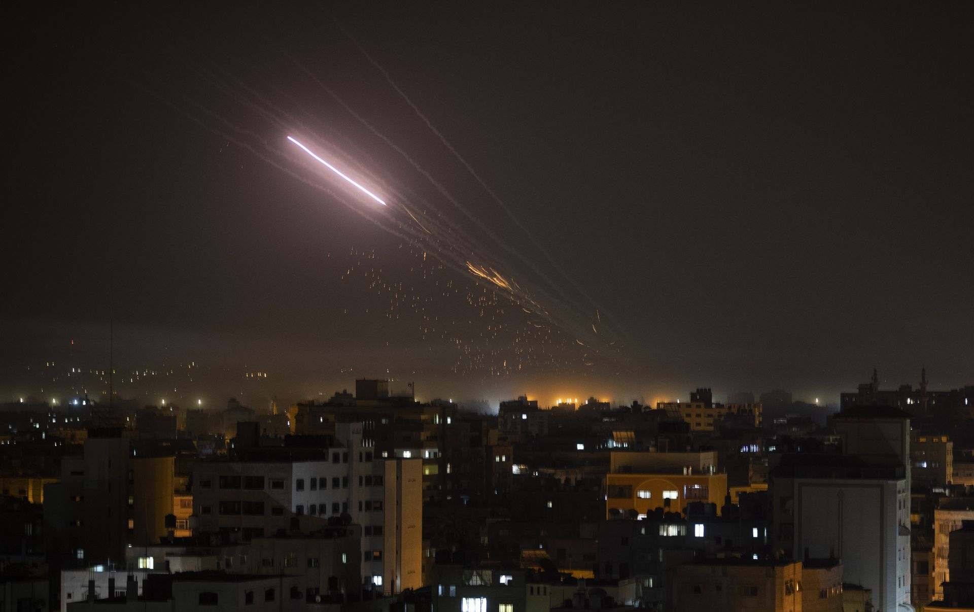 Ракетен обстрел в Газа
