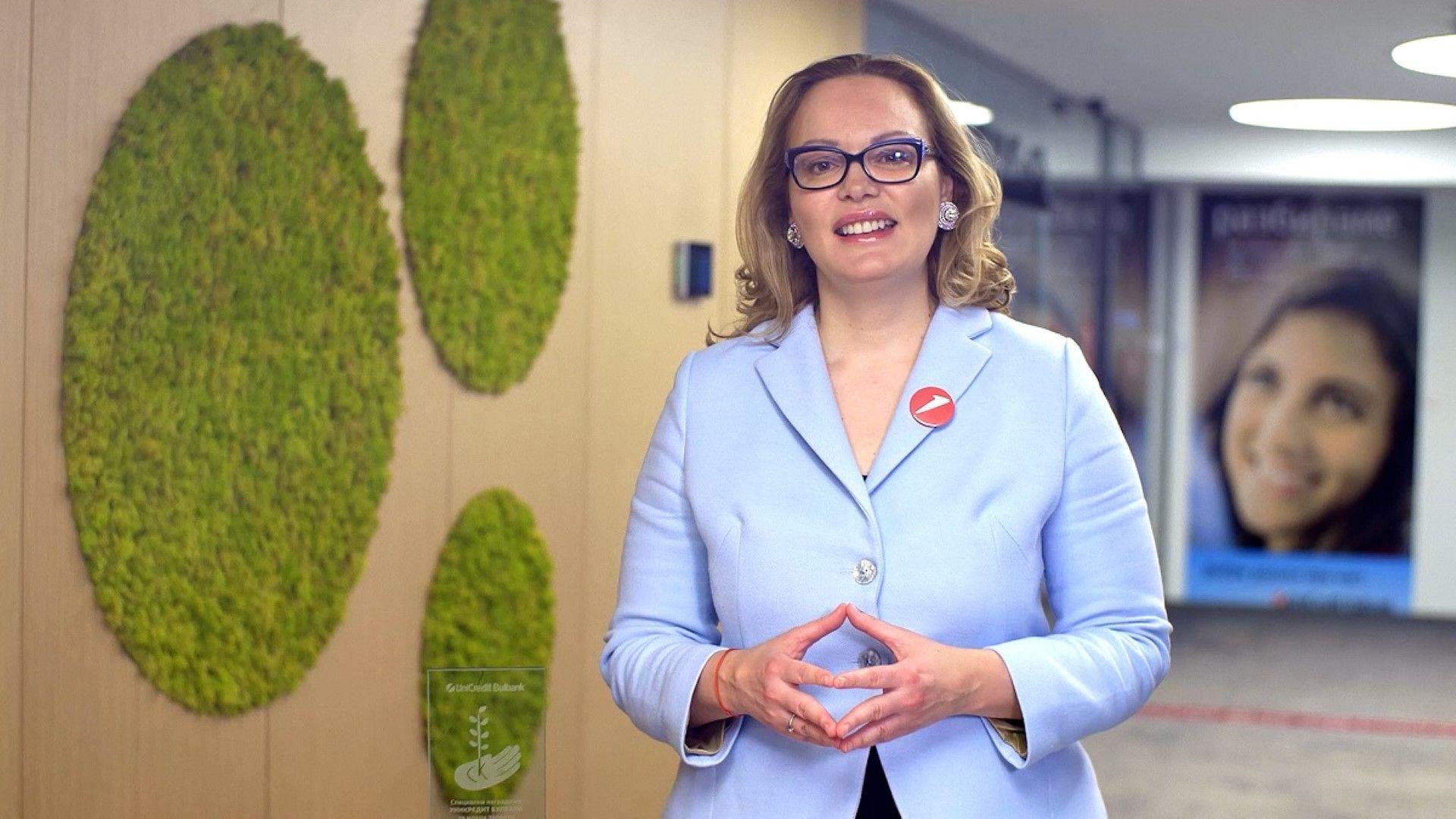 Теодора Петкова - Председател на УС и главен изпълнителен директор на официалната банка на Церемонията УниКредит БУЛБАНК