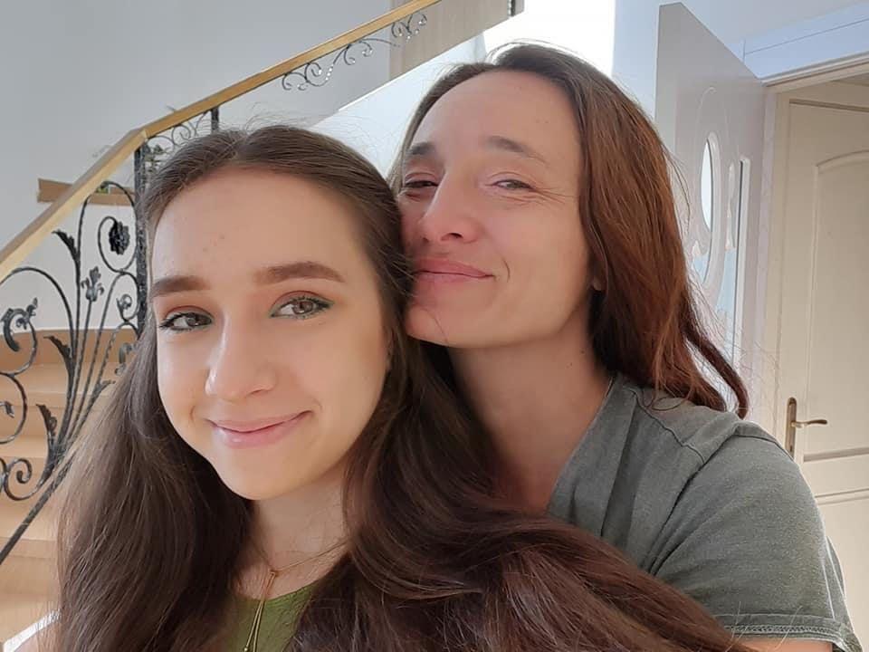 Мария Петрова с майка си - писателката Диана Петрова