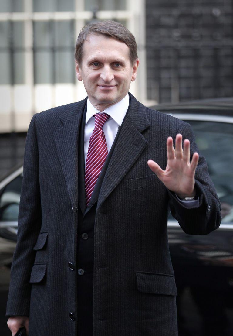"""Сергей Наришкин в сравнително далечната 2010 г.  - на 19 октомври гостува на """"Даунинг стрийт"""" в Лондон като шеф на президентската администрация в Кремъл"""