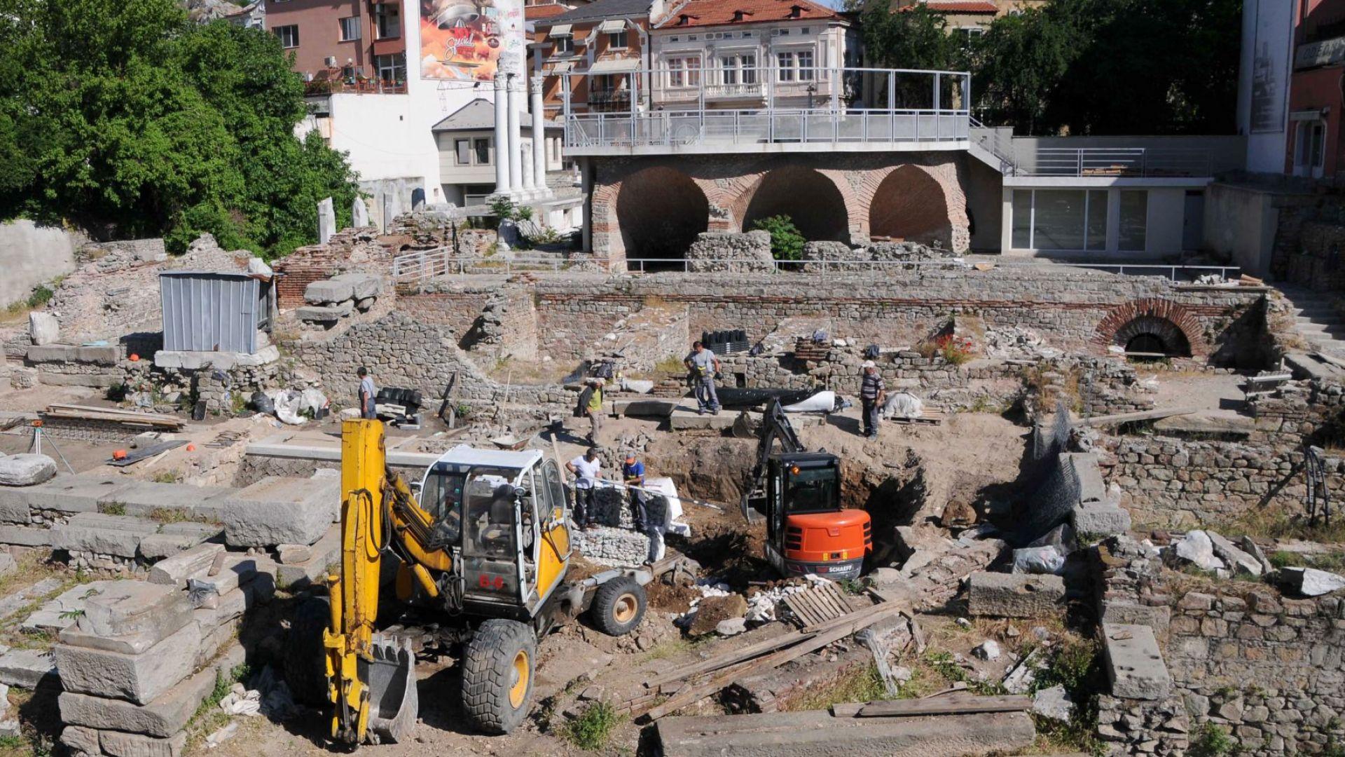 Завършват до дни реставрацията на Античния одеон в Пловдив