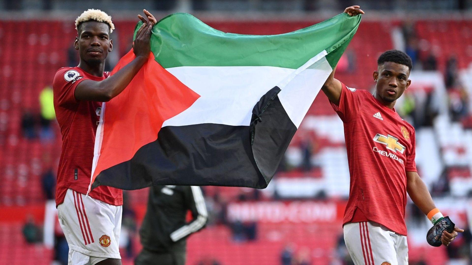 Погба развя палестинския флаг и разпали нов скандал в Англия