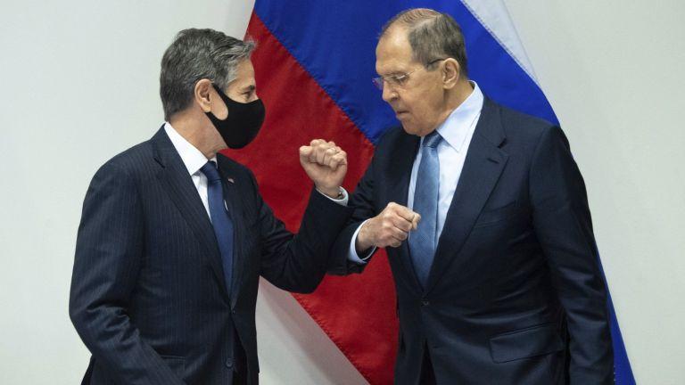 Държавният секретар на САЩ Антъни Блинкън и руският външен министър