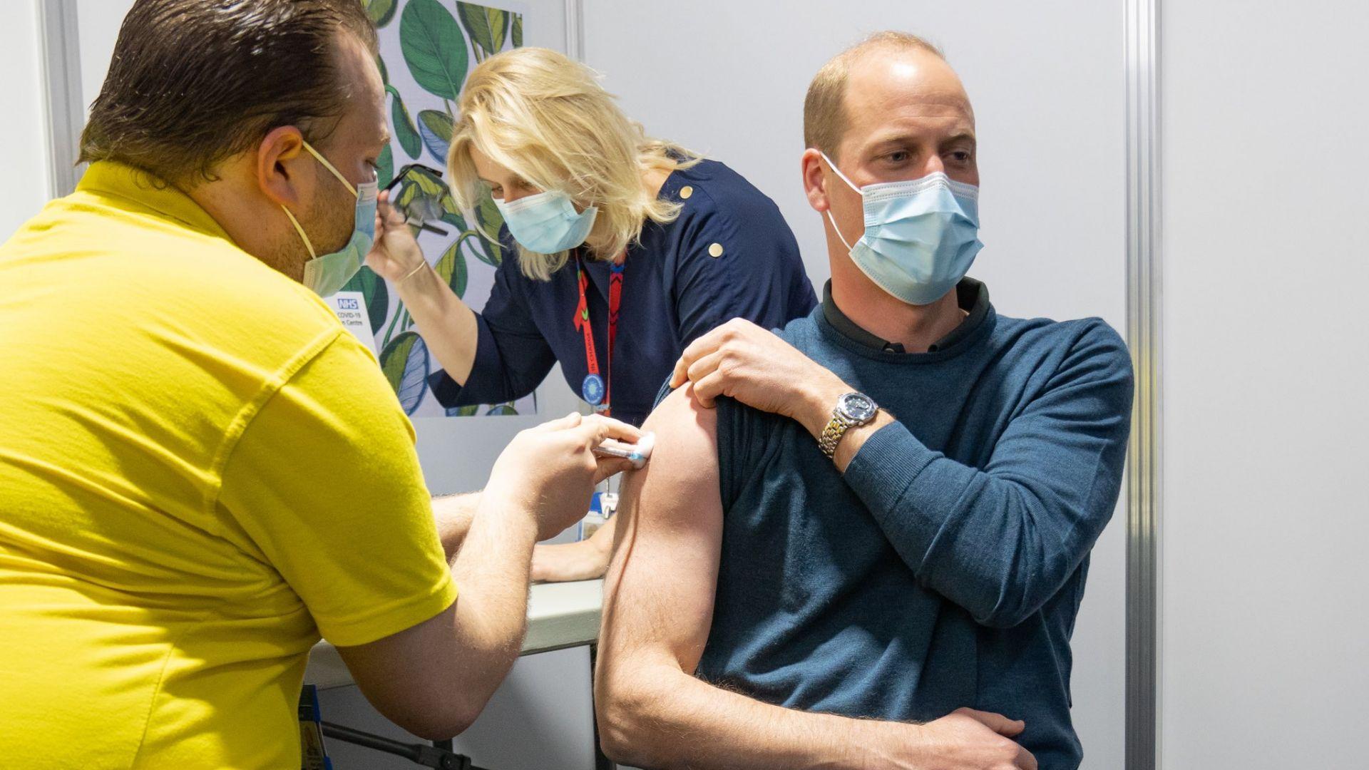 Принц Уилям получи първа доза от ваксина срещу Covid-19