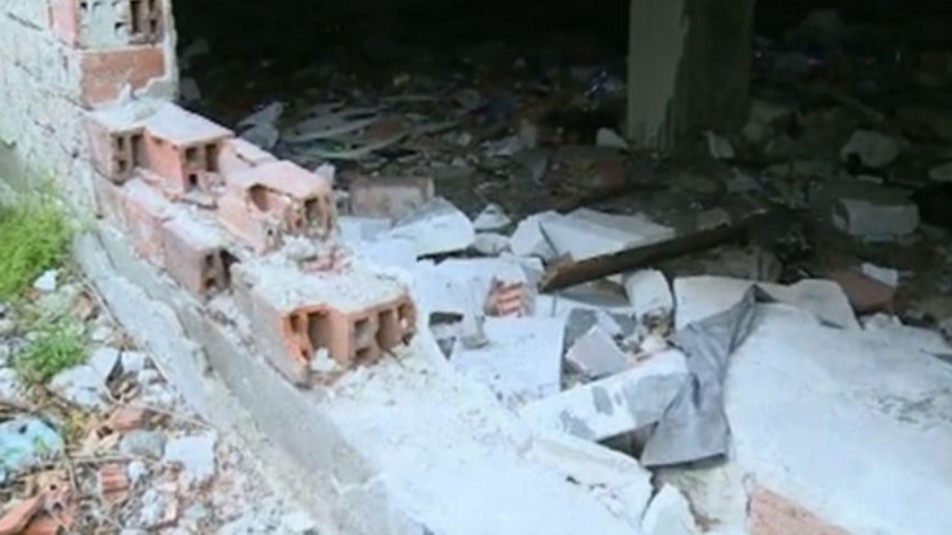 Сграда се руши на метри от детска градина в София