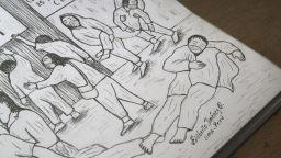 Художник рисува пандемията в Перу