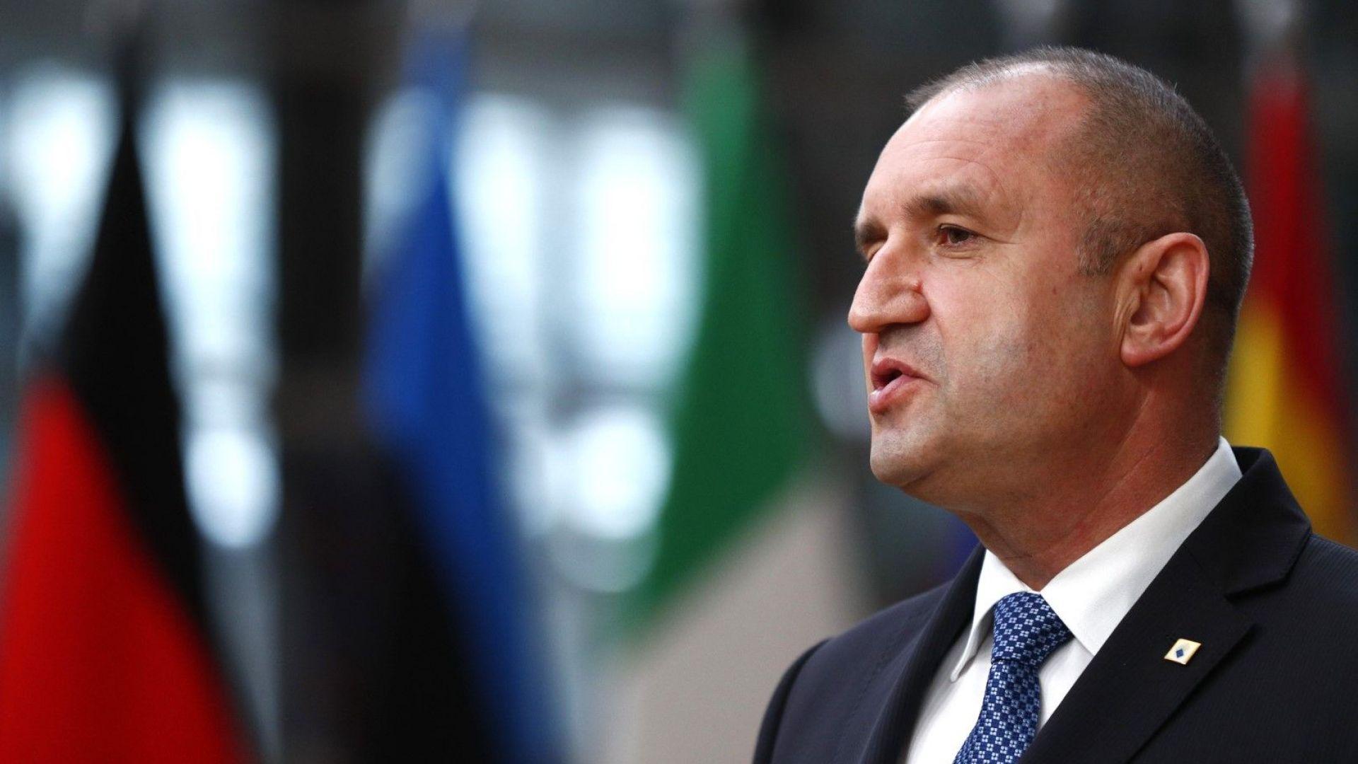 Румен Радев: България настоява пред ЕС за поносим преход към чиста икономика