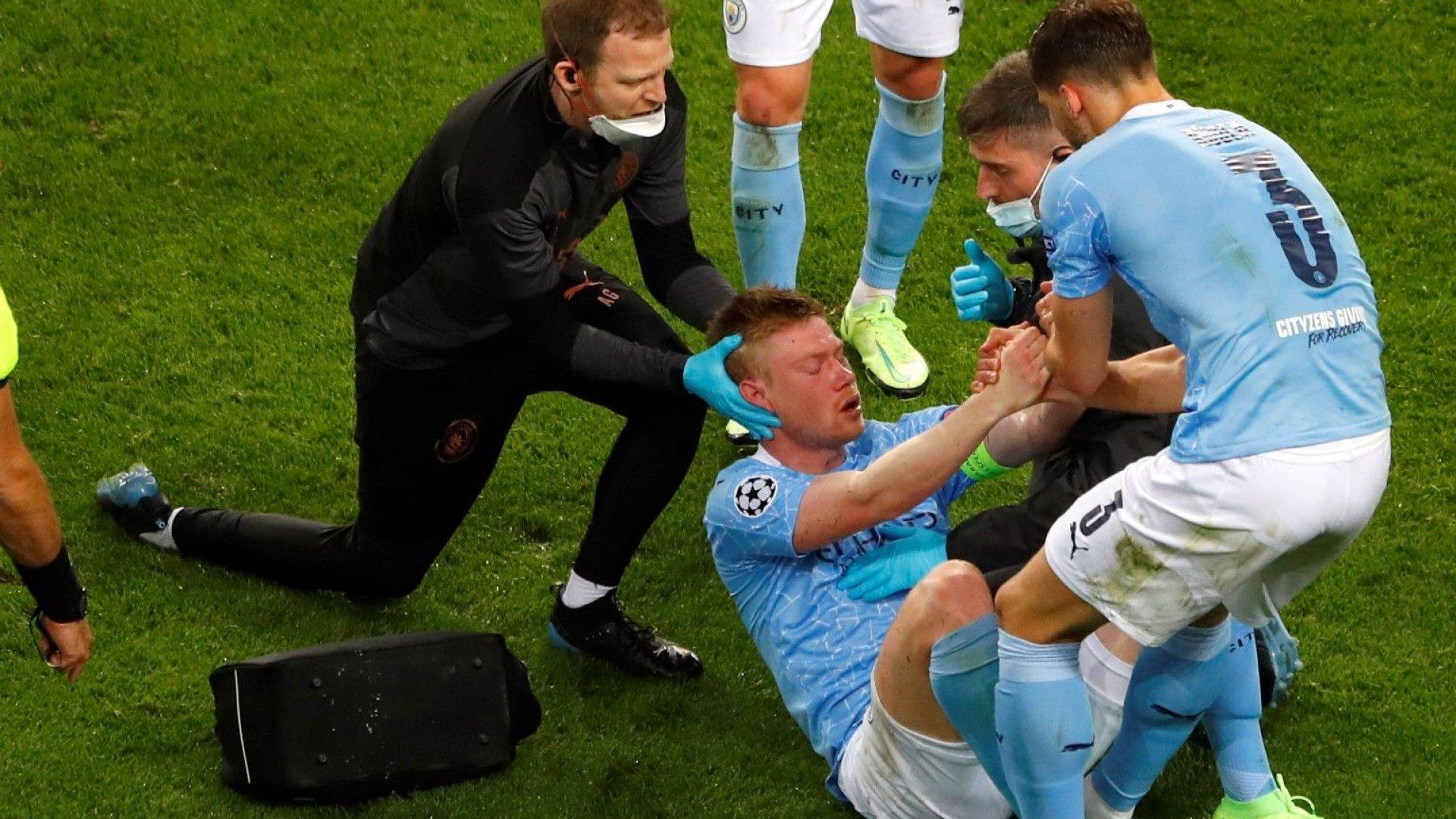 Асът на Белгия е под въпрос за европейското с фрактури от финала в Шампионската лига