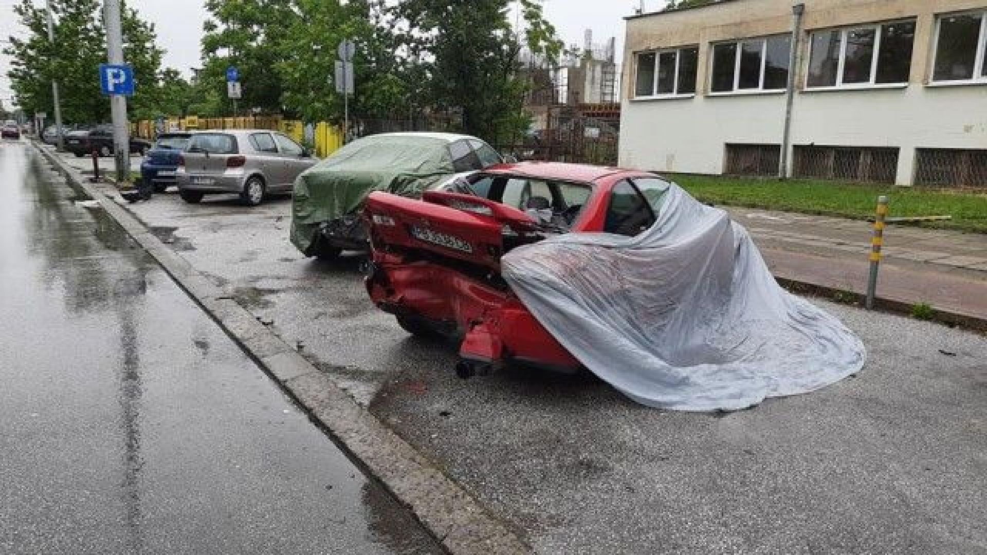 21-годишен удари пет паркирани коли в Пловдив (видео)