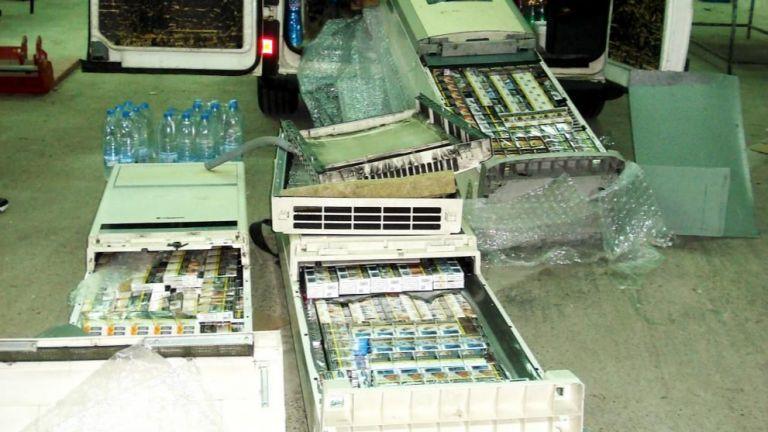 Митнически служители задържаха 4850 кутии цигари, скрити в климатици, съобщават